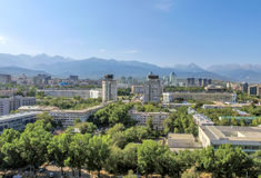 Almaty - vista aerea Immagine Stock