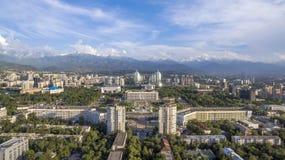Almaty - vista aerea al quadrato della Repubblica Fotografie Stock Libere da Diritti
