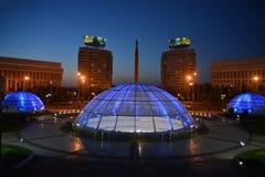 Almaty - vista di sera Immagine Stock Libera da Diritti