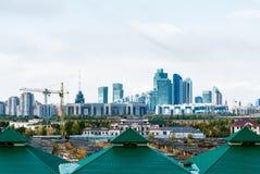 Almaty zmierzchu linia horyzontu Fotografia Royalty Free