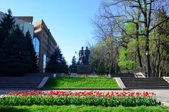 Almaty zwycięstwa pomnik na słonecznym dniu Zdjęcie Royalty Free