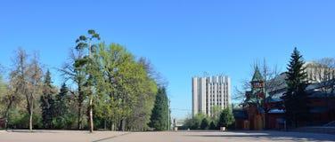 Almaty zwycięstwa pomnik na słonecznym dniu Obraz Stock
