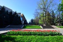 Almaty zwycięstwa pomnik na słonecznym dniu Obraz Royalty Free