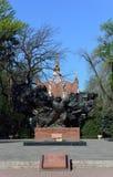 Almaty zwycięstwa pomnik na słonecznym dniu Obrazy Stock