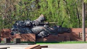 Almaty zwycięstwa pomnik na słonecznym dniu Obrazy Royalty Free