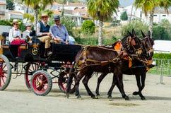 ALMAYATE,西班牙- 2018 4月22日,传统安达卢西亚的比赛 图库摄影
