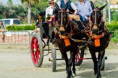 ALMAYATE HISZPANIA, KWIECIEŃ, - 22, 2018 Tradycyjny Andaluzyjski konkurs Zdjęcia Stock