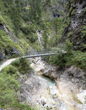 Almbachklamm hiking trail in Germany Stock Photography