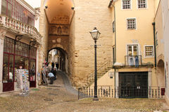 Almedina Gate. Coimbra . Portugal Royalty Free Stock Photography