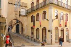 Almedina Gate. Coimbra . Portugal Stock Image