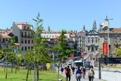 Almeida Garrett Plaza, Oporto, Portogallo Fotografia Stock Libera da Diritti