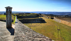 Almeida historical village fortified walls royalty free stock photo
