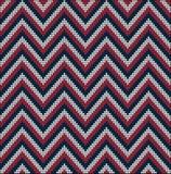 Almenaje del suéter del modelo de los colores de los E.E.U.U. que hace punto Imagenes de archivo