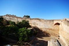 Almenajes del castillo de Málaga Imagenes de archivo