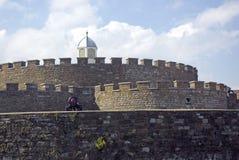 Almenajes del castillo del reparto Fotos de archivo