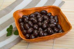 Almendra en chocolate Fotografía de archivo