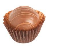 Almendra garapiñada del chocolate - Schokoladenpraline Fotos de archivo