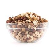 Almendra, pistacho, cacahuete, nuez, mezcla de la avellana Foto de archivo libre de regalías