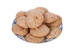 Almendrados,从阿尔加威的传统杏仁饼干在葡萄牙 免版税库存图片
