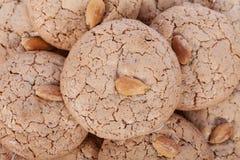 Almendrados, biscotto tradizionale della mandorla dall'Algarve nel Portogallo Fotografia Stock
