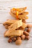 Almendras Biscotti de la nuez Foto de archivo libre de regalías