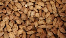 Almendras Almendras crudas con las cáscaras Nueces orgánicas frescas crudas de la almendra Fondo de la almendra fondo nuts Textur foto de archivo libre de regalías