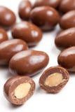 Almendras en chocolate Fotos de archivo