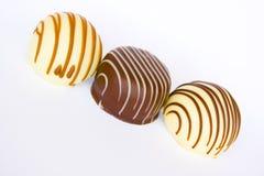 Almendras garapiñadas del chocolate Imagen de archivo libre de regalías
