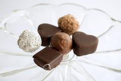Almendras garapiñadas del chocolate Fotografía de archivo libre de regalías