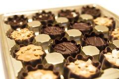 Almendras garapiñadas deliciosas del chocolate Imagen de archivo libre de regalías