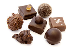 Almendras garapiñadas del chocolate Foto de archivo libre de regalías