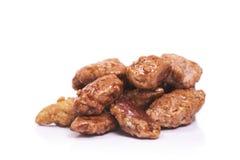 Almendras garrapinadas, spanish candied almonds Royalty Free Stock Photography