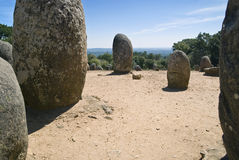 Almendres Cromlech Royalty Free Stock Photos