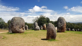 Almendres' Cromlech royalty free stock photo