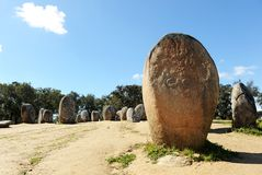 Almendres Cromlech, Cromeleque dos Almendres, Portugal, Southern Europe Stock Images