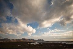 Almería, Spain -  salt flat stock photo