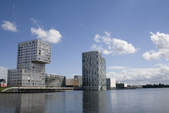 Almere. The modern city center of Almere stock image