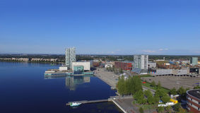 Almere. Aerial view on Almere, Flevoland royalty free stock image