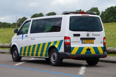 Dutch Belastingdienst Douane van. Almere, Flevoland, The Netherlands - July 11, 2016: Dutch Belastingdienst Douane van parked on a public parking lot royalty free stock photography