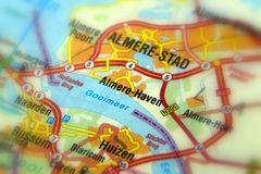 Almere Haven Almere and Gooimeer, Flevoland - The Netherlands Europe. - Royalty Free Stock Photo