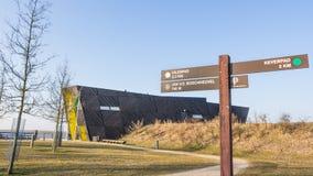 ALMERE, PAESI BASSI - 17 MARZO 2016: Il NP Oostvaardersplassen Fotografia Stock Libera da Diritti