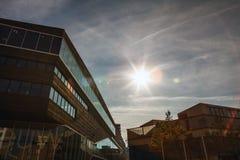 ALMERE, PAESI BASSI - 18 OTTOBRE: Architettura del centro urbano moderno di Almere netherlands Fotografie Stock Libere da Diritti
