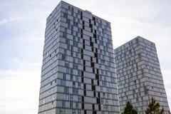 ALMERE, PAESI BASSI - 18 OTTOBRE: Architettura del centro urbano moderno di Almere netherlands Immagini Stock
