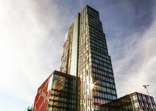 ALMERE, PAESI BASSI - 18 OTTOBRE: Architettura del centro urbano moderno di Almere netherlands Immagine Stock Libera da Diritti