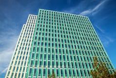 ALMERE, PAESI BASSI - 18 OTTOBRE: Architettura del centro urbano moderno di Almere netherlands Immagini Stock Libere da Diritti