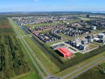 Almere Poort. Aerial drone view of Almere Poort, The Netherlands royalty free stock photography