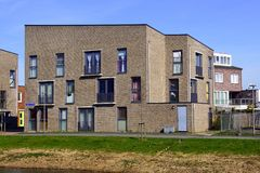 Dutch Social housing in the city of Almere. Almere Poort, The Netherlands - March 17, 2018: Social housing in a apartment building in the city of Almere Royalty Free Stock Image