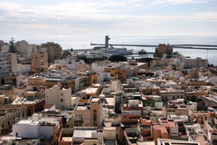 Almeria. Cityscape. City in Andalusia, Spain. Mediterranean Sea in background Stock Image