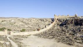 Almeria, Andalusia, spagna, Europa, pareti di Alcazaba Fotografia Stock Libera da Diritti