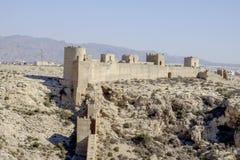 Almeria, Andalusia, spagna, Europa, pareti di Alcazaba Fotografia Stock